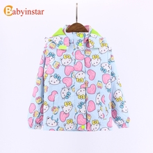 Babyinstar New Spring Autumn Mother & Kid's Clothing Girls's Outwear & Coat Cartoon Jacket Coat Girl's Casual Coat 2017
