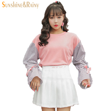 Buy autumn summer letter embroidery girls pleated half skirt schoolgirls skirt uniforms cos candy color high waist solid mini skirt for $13.20 in AliExpress store