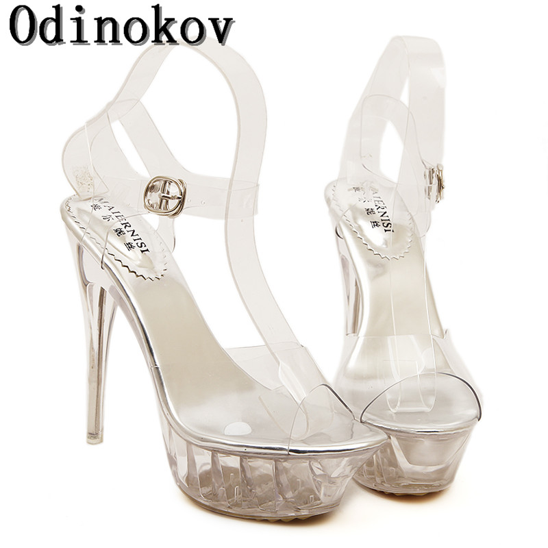 Women Platform Shoes  Peep Toe Pumps 15cm Heels Sexy escarpins Tvalentine Shoes chaussure femme talon High Heels Pumps  35-43<br><br>Aliexpress