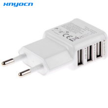 Xnyocn Fast Charging 5V 3.4A 3-Port USB Home Travel Wall Charger AC Charger Adapter For Cell Phone Tablet (EU Plug )