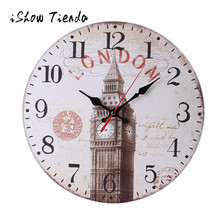 Wooden Wall Clock Owl Flower Vintage Modern Design Non-Ticking Silent Antique Wood Wall Clock for Home Kitchen Office 2018(China)