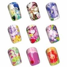 YZWLE 1 Sheet Optional Flower Designs Water Transfer Decals Nail Stickers Foil Polish Wraps Decorations