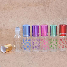 5ml glass perfume bottle wholesale refillable rolls on the bottle of essential oil glass vials F20172009(China)