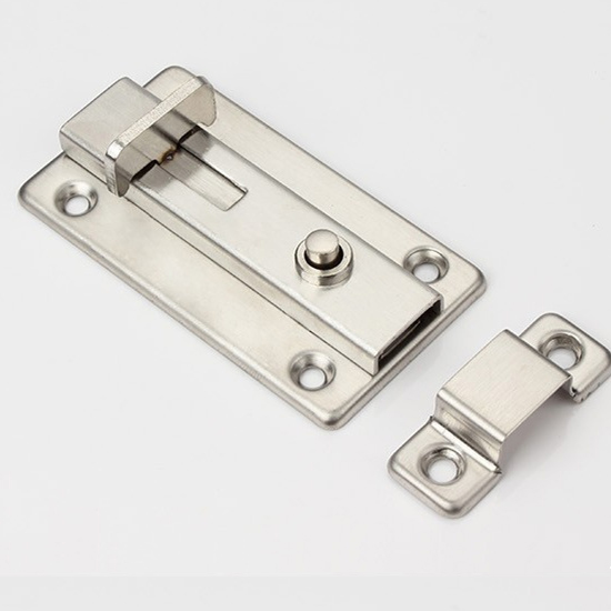 3 inch/ 4 inch stainless steel door bolt with elastic button(China (Mainland))
