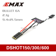 4pcs/lot Emax BLHeli-S DSHOT Bullet 6A 12A 15A 20A 30A Brushless ESC Speed Controller(China)