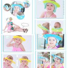 2017 Brand New Adjustable Baby Kids Adult Shampoo Bath Bathing Shower Cap Hat Wash Hair Shield Candy Color Adjustable Shower Cap(China)