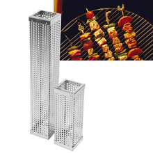 12''/6'' Korean Grill BBQ Stainless Steel Perforated Mesh Smoker Cubic Filter Tool Hot or Cold Smoking Outdoor Camping(China)