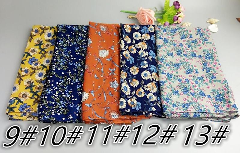 G5 20pcs Flower Printed Big Bubble Chiffon Hijab Printing Shawl Scarf  180*75cm   Us286