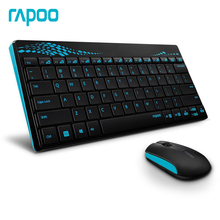 Original Rapoo 8000 Multimedia Mini Slim USB 2.4G Wireless Keyboard & mouse Combo With waterproof for PC Android Smart TV gaming(China)