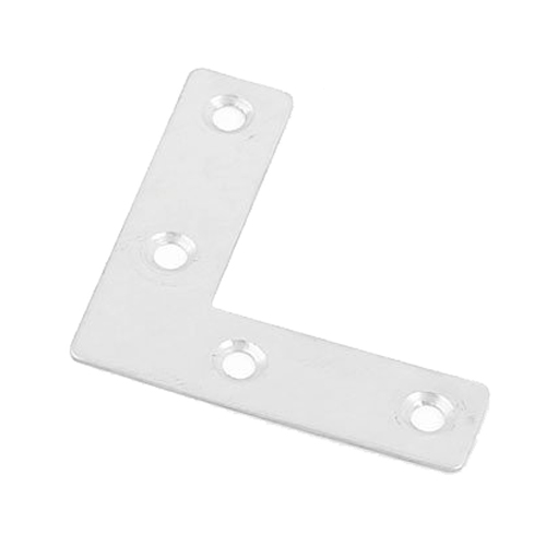50 x 50mm Right Angle Plate Metal Corner Brackets Silver Tone x 5<br><br>Aliexpress