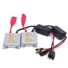 2pcs 12V hid xenon ballast 35W Digital slim hid ballast 35w blocks ignition electronic ballast for HID kit xenon H7 H4 H1 H3 H11(China)