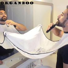 ORGANBOO 1PC Man Beard Care Shave Apron Bib Trimmer Facial Hair Storage Black White Shaving Clean Tool Household Storage Bag(China)