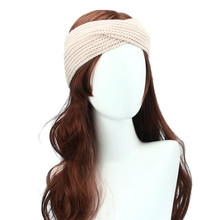 Best Quality Winter Women Bohemia Weaving Cross Headband Handmade Hairband halloween accessories diadema pelo mujer tiara(China)