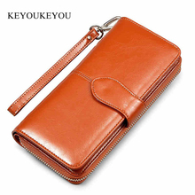 Luxury Women Wallet Zipper Clutch Purse Long Leather Pu Ladies Wallets Vintage Carteira Female Photo Card Holder Women Money Bag