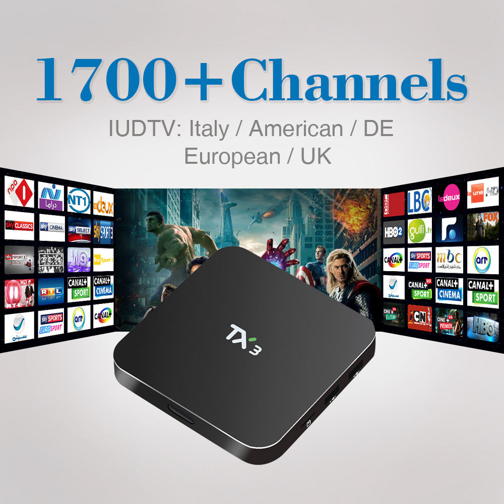 4k Smart Android TV Box Quad Core HD WiFi TV Media Player with Free IUDTV IPTV Subscription Europe French Italy Germany Arabic<br><br>Aliexpress
