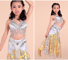2016 Children Girls Belly Dance Costume Kids Evening Dresses Bollywood Indian Dress Skirt Roupas Infantis Menina 8 Colors