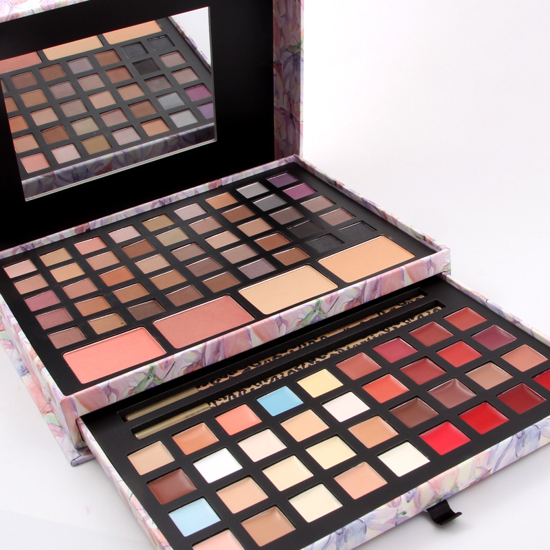 Miss Rose Two layers Makeup set 45 Colors Matte Eyeshadow Palette+16 colors matte lipstick+blusher+concealer  Cosmetic Brand New<br>