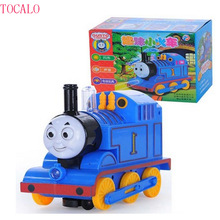 1pcs 17cm Thomas and Friends Train With Light and Music Electric Car Toy Diecast Kids Thomas Trackmaster Come With Retail Box(China)