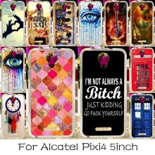 Soft TPU Silicone Mobile Phone Case For Alcatel OneTouch Pixi 4 5.0'' OT-5010 5010D 3G Version Covers Dream Cather Housing