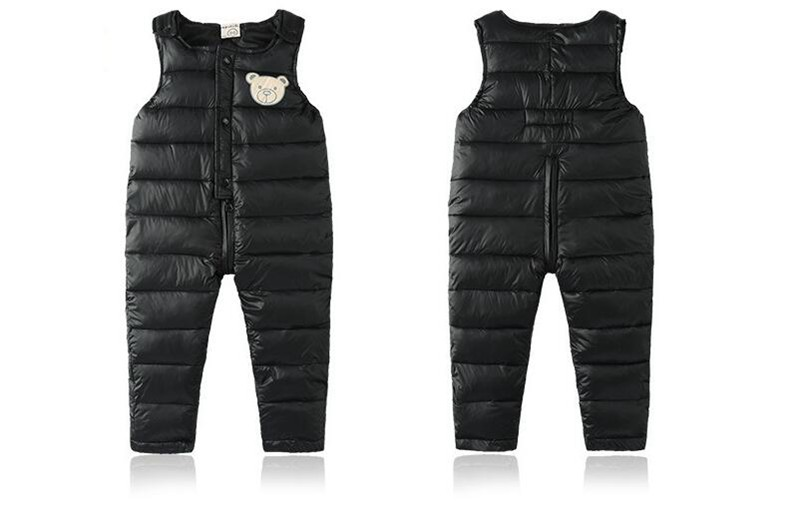 COOTELILI Cotton Winter Overalls Padded Outdoor Romper Pants High Quality Baby Girls Boys Jumpsuit Kids Clothes  90-110cm  (7)
