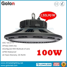 High lumens 130Lm/W gold supplier factory price 5 years warranty dimmable 100W LED medium bay light 160W(China)