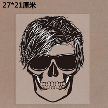 New 10PCS/1Lot  Wholesale Heat Transfer Punk  Skull  Iron On Patches  DIY Clothes T-shirt Brand  Logo Patch Applied