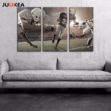 3 Panel Modern Rugby Football American POP Style Canvas Art Print Painting Poster, Wall Picture For Living Room, Home Decor