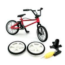 Mini Finger Bicycle Novelty Finger Bikes Model Toys Bike Tech Deck Gadgets Gag Toys For Kids Boy Game Gift 1 PC Color Randmonly(China)