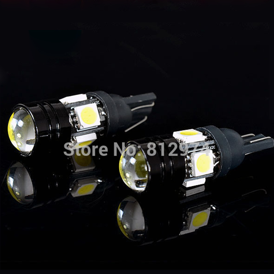 2PCS  LED 5W5 T10 Black Blade 4SMD 1.5W Parking Car Styling DIY Automobile lights Projector lens for Interior lamp white colour<br><br>Aliexpress