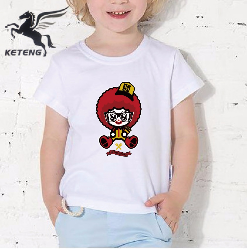 2017 Newest Summer Children Modal Printing Casual Tops Tees o-neck T shirt Cartoon