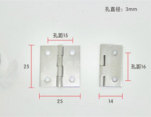 Wholesale 25*25MM Silver Nickel-plated hinges 1 inch square small hinge 100pcs/lot