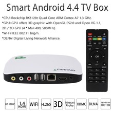 Android TV Box Android 4.4 RK3128t Quad Core ARM Cortex A7 Mini PC H.265 XBMC DLNA Miracast Airplay WiFi Smart Media Player