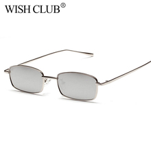 WISH CLUB Girl Unique Outdoor Glasses Narrow Cyclops Color Mirrored Lens Visor Sunglasses For Women Metal Eyeglass Frames Ocean(China)
