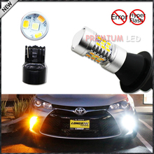 2pcs 28-SMD LED Daytime Running Lights/Turn Signal Lights Conversion Kit For 2015-up Toyota Camry LE SE or Special Edition,12v(China)