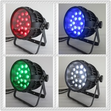 O- 12pcs/lot LED Zoom RGBW Stage PAR64 Light DMX-512 Disco DJ Lighting Strobe Light 18x10W Par Cans DJ Lights