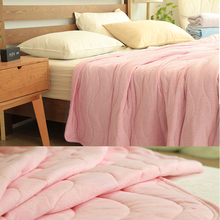 150*200 cm/200*230 cm Summer Duvet Quilt Comfortable Polyester Blanket Cut Through Sleeping Cover Comforter 4 Colors Supply(China)