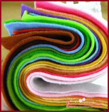 36 colors polyester acrylic nonwoven Fabric,needlework,diy,needle,sewing,handmade, non-woven cloth felt,fabric, Very soft(China)