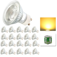 20x Dimmable 10W GU10 COB LED Energy Bulbs Spot light lamp with Beautiful Warm Cold White Colour AC195-240V(China)