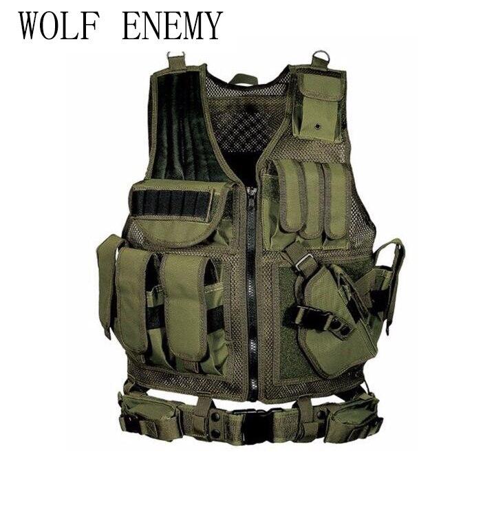 Deluxe Airsoft Hunting Combat Mesh Vest 1000D tactical Vest military vest combat vest 045<br>