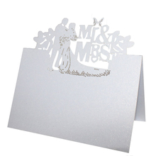 Buy 50pcs White Laser Cut Wedding Table Place Card Name Card Wedding Party Table Decoration Mr Mrs Love Heart Butterfly Design for $7.46 in AliExpress store