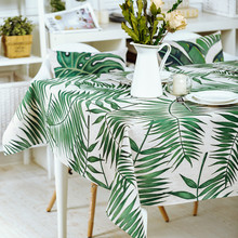 HAOLAIWU3D photo print Tropical Plants GreeTablecloth Table Cover Wedding Table Cloth Rectangle Provence Tafelkleed Tablecloths(China)