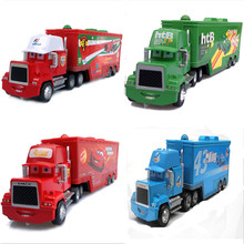 4 Styles Pixar Cars 2 Mack Uncle Truck No.95 Lightning McQueen No.86 Htb No.1&No.43 The King1:55 Diecast Metal Loose Toys Car(China)