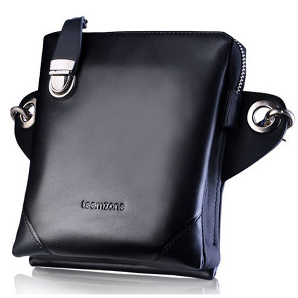teemzone - Multi-Pack (Waist + Shoulder + Crossbody) Super Design Fashion Street Cowskin Leather Handbags Mens Bags J25<br>