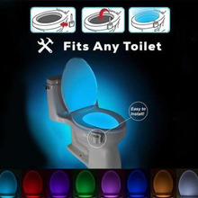 Litwod toilet seat lighting 8 Colors LED Toilet Night light Motion Activated Sensor Sensitive Battery-operated Lamp(China)