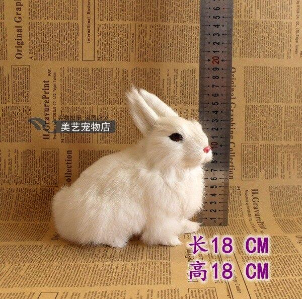 simulation animal about 18cm white squatting rabbit model polyethylene&amp; fur handicraft,home Decoration gift b3503<br><br>Aliexpress