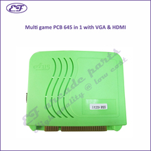 Free shipping 2016 new multi game 645 in 1 PCB HD Pandora's jamma arcade game board VGA & HDMI output Video game Box