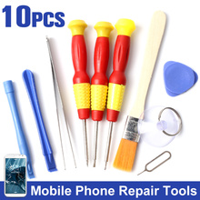 Smart Mobile Phone Repair Tools Kit Screwdriver Opening Pry Set Kits 10 in 1 Disassemble Tools for iPhone 6 5 5S for Samsung