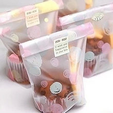 New 50Pcs Candy Cookie Food Bags Bread and Biscuit Gift bag Candy Colors Snack Baking Packaging Bags