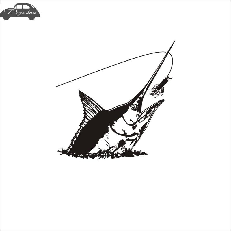 Pegatina Sailfish Fish Dorado Car Decal Swordfish Posters Boat Decals Decor Mural Wall Sticker Angling Hooks Shop Vinyl