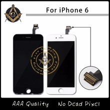 10PCS/LOT No Dead Pixel LCD For Apple iPhone 6 LCD Display With Touch Screen Digitizer Assembly Free DHL Shipping DHL(China)